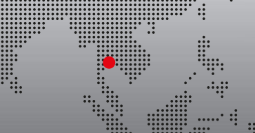 extract of aworld map with a red dot to show Bangkok